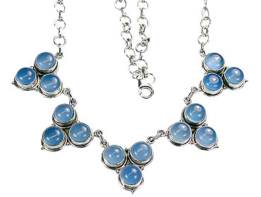Design 498: blue chalcedony necklaces