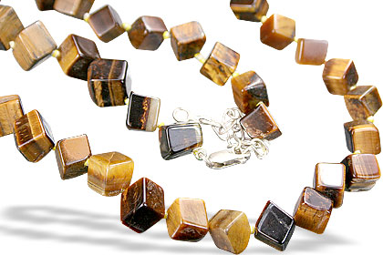 Design 52: brown tiger eye necklaces