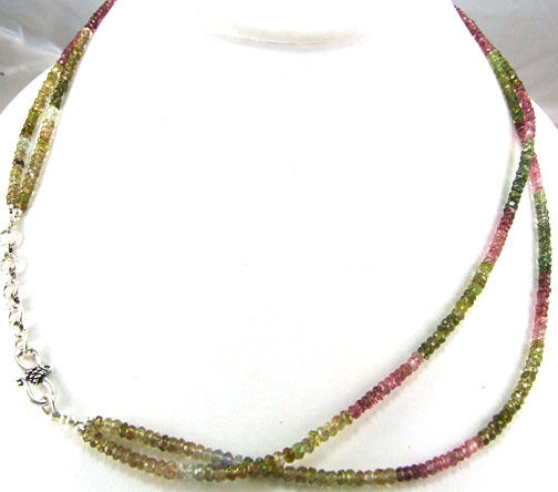 Design 5330: multi-color tourmaline childrens necklaces