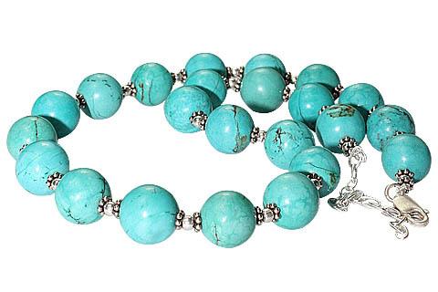 Design 536: blue turquoise necklaces