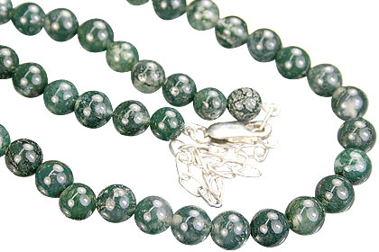 Design 544: green moss agate necklaces