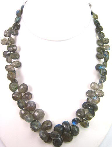 Design 5483: gray labradorite necklaces
