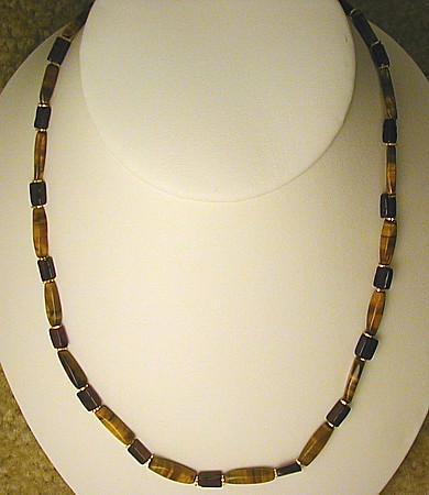 Design 554: red tiger eye necklaces