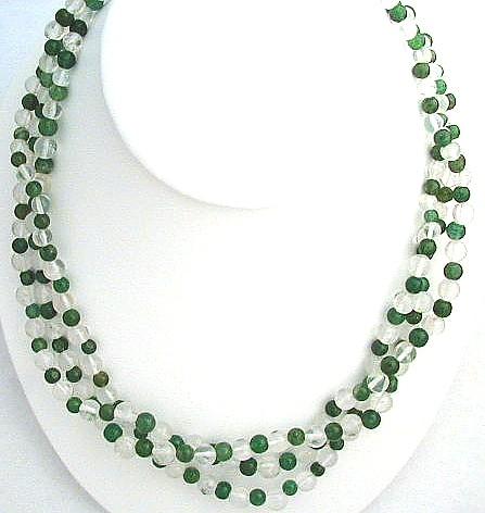 Design 565: green aventurine multistrand necklaces