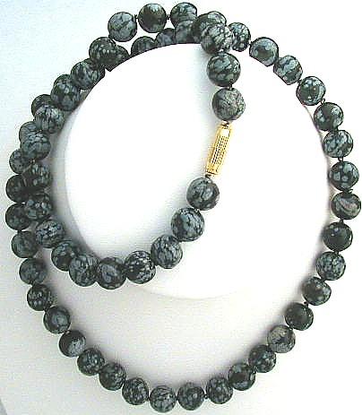 Design 566: black obsidian necklaces