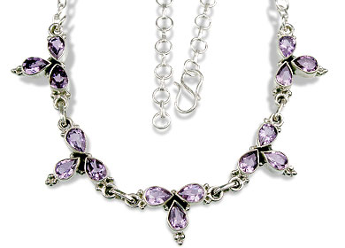 Design 575: purple amethyst classic necklaces