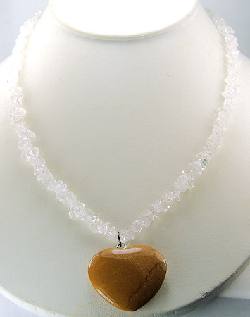 Design 6003: brown,white crystal pendant necklaces