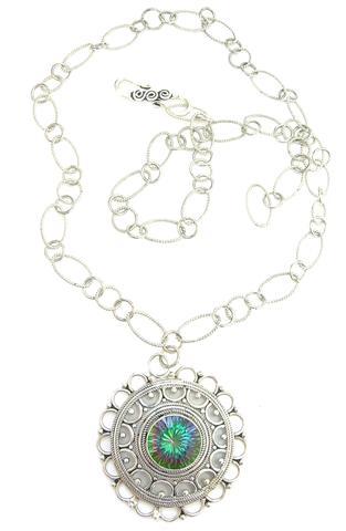 Design 6201: multi mystic quartz necklaces