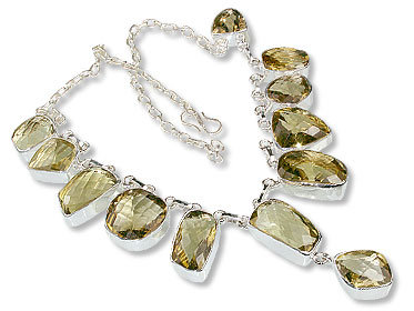 Design 6294: yellow lemon quartz choker, pendant necklaces