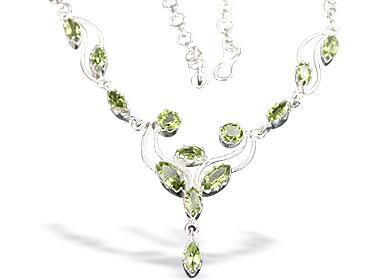 Design 6298: green peridot contemporary necklaces
