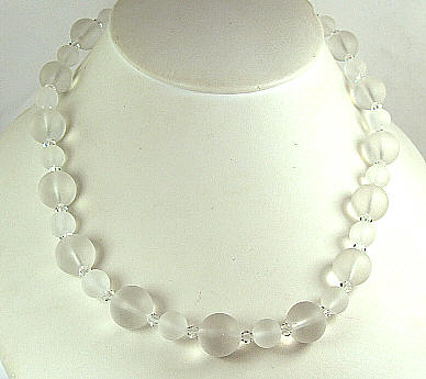 Design 6312: white crystal necklaces
