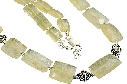 Design 6390: yellow citrine ethnic necklaces