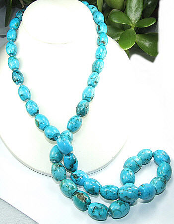 Design 6484: blue turquoise necklaces