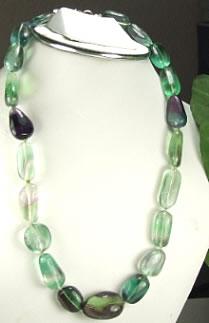 Design 6840: multi fluorite necklaces