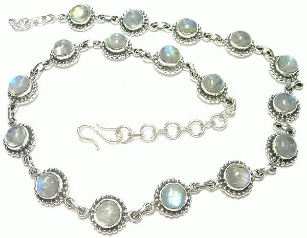 Design 6896: blue,white moonstone necklaces