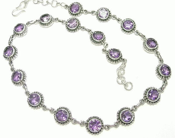 Design 6904: purple amethyst necklaces