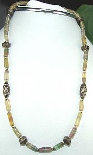 Design 6955: multi-color fluorite necklaces