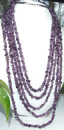 Design 7178: purple amethyst chipped necklaces