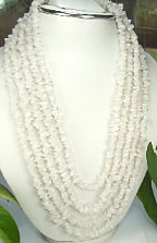 Design 7179: white onyx chipped necklaces