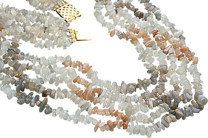 Design 7180: multi-color moonstone chipped necklaces