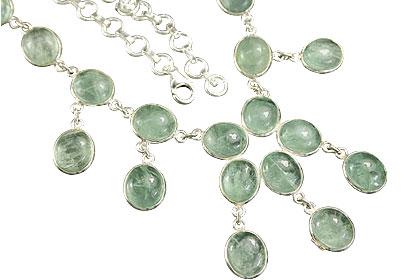 Design 7343: green fluorite necklaces