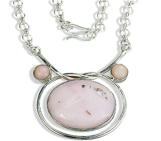 Design 7349: pink pink opal pendant necklaces