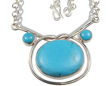 Design 7353: blue turquoise necklaces
