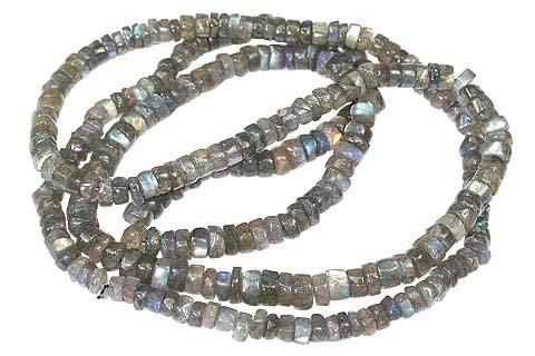 Design 7366: gray labradorite necklaces