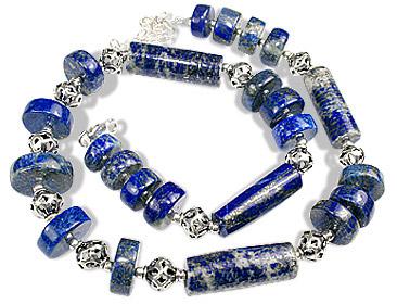 Design 7367: blue lapis lazuli chunky necklaces
