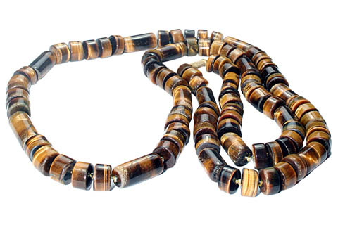 Design 7404: brown,yellow tiger eye necklaces