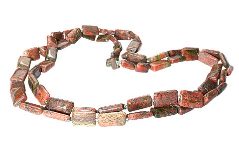 Design 7437: brown unakite necklaces