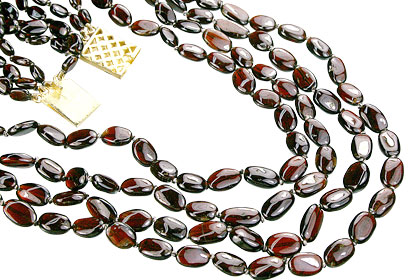 Design 7446: red garnet necklaces