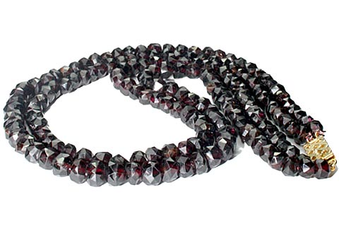 Design 7455: red garnet necklaces