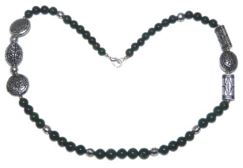 Design 7496: Green multi-stone necklaces