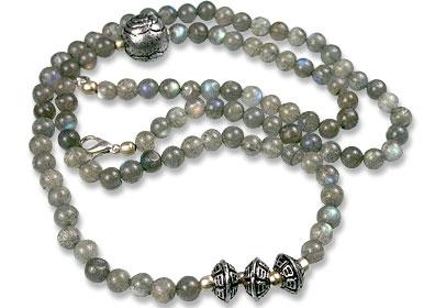 Design 7498: gray labradorite necklaces
