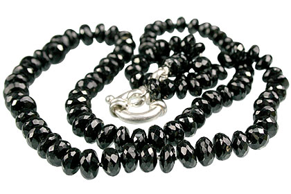 Design 7570: black black spinel contemporary necklaces