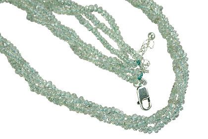 Design 7573: blue aquamarine multistrand necklaces