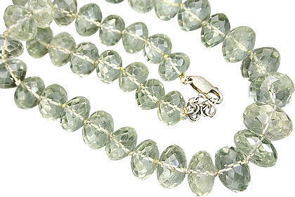 Design 7582: green green amethyst necklaces