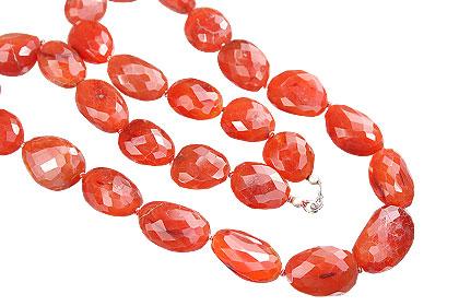 Design 7613: orange carnelian chunky necklaces