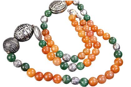 Design 7615: green multi-stone necklaces