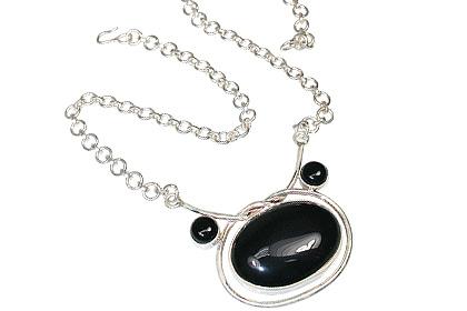 Design 763: black onyx pendant necklaces