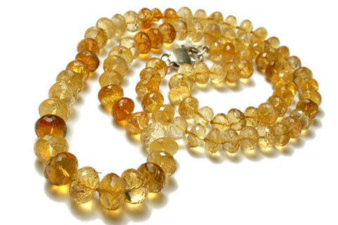 Design 7726: yellow citrine necklaces