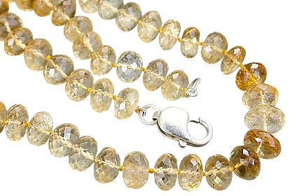 Design 7727: yellow citrine chunky necklaces