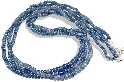 Design 7901: blue sapphire multistrand necklaces