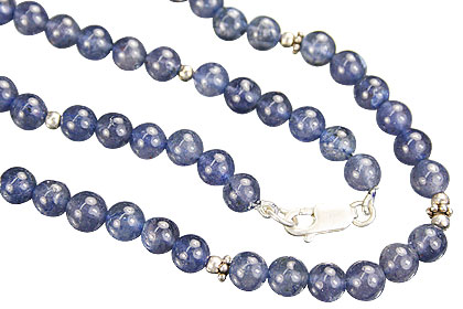 Design 7981: blue iolite simple-strand necklaces