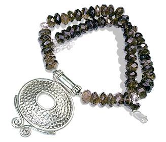 Design 7992: brown smoky quartz necklaces