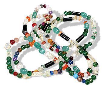 Design 8073: green,purple,yellow multi-stone chunky, ethnic, tribal necklaces