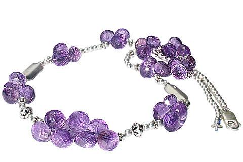 Design 8075: purple amethyst drop necklaces