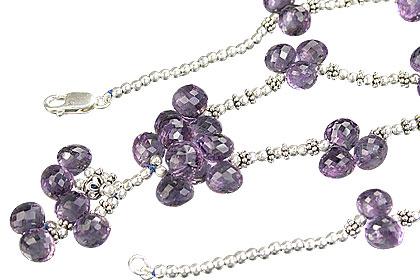 Design 8076: purple amethyst drop necklaces
