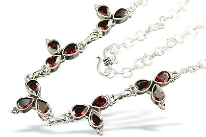 Design 833: red garnet wedding necklaces